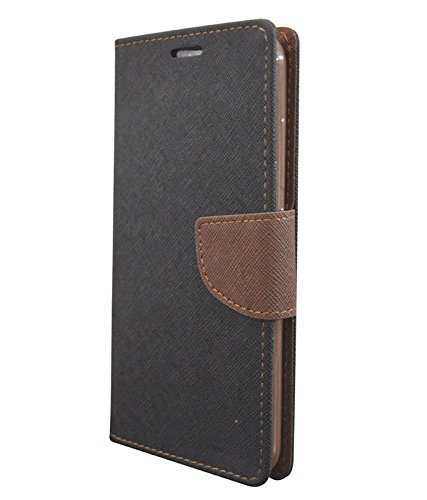 COVERNEW Flip cover for Lenovo Vibe P1 Turbo (Black and Brown)