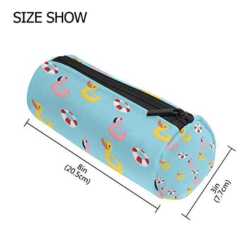 TIZORAX Federmäppchen mit Reißverschluss, Flamingo-Ente, Schwimmring, für Damen, Mädchen, Jungen, Kinder