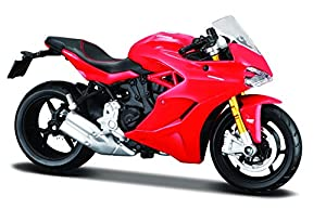 Maisto- Ducati Supersport S Rojo 1:18 39300-108, Color