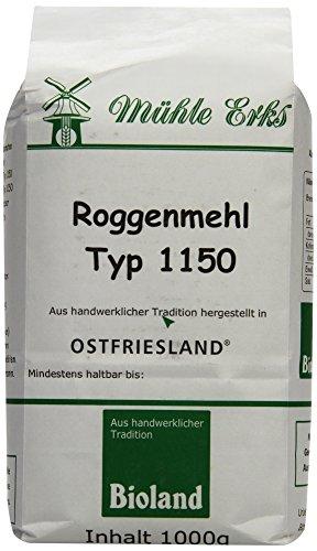 Erks Bio Roggenmehl Typ 1150, 8er Pack (8 x 1 kg)