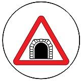 9 Stück Muffinaufleger Muffinfoto Aufleger Foto Bild Verkehrsschild Warnzeichen Tunnel rund ca. 6 cm *NEU*OVP*