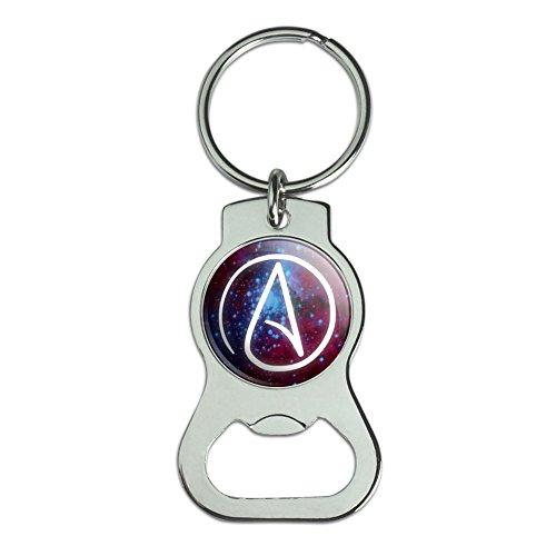 Atheist Atheismus Symbol in Space Flasche GAP Opener Schlüsselanhänger Ring