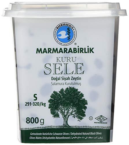 Marmarabirlik Oliven, schwarz, mit Stein Kuru Sele, 291 - 320 Stücke/kg, 2er Pack (2 x 815 g)