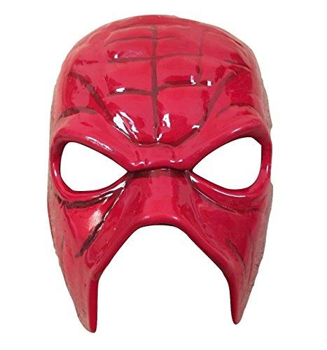 Halloween Karneval Cosplay Kane Maske TEAM HELL NO rot Cosplay Das Gesicht Bedeckend WWE Wrestling Kostüm geschnürt Kostüm Maske - universell Größe mit elastischer band (Kane Halloween Kostüm)