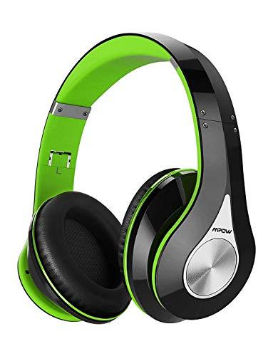 Mpow 059 Cuffie Bluetooth 4.1 Cuffie Riduzione di Rumore, Fascia Morbida Pieghevole Design Ergonomico, con Microfono, Durata 20 Ore per Huawei/iPhone/iPad/LG/Samsung/Sony e Altri Cellullari e PC-Verde