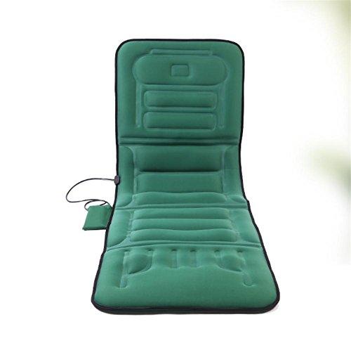 Preisvergleich Produktbild AMYMGLL Multifunktion beheizte Massage Matratze Auto Massage Auto Matte ältere Gesundheit Massage Ausrüstung Haus Sofa Kissen wiederaufladbare faltbar grün und schwarz Größe 170 * 56 * 5cm , 1