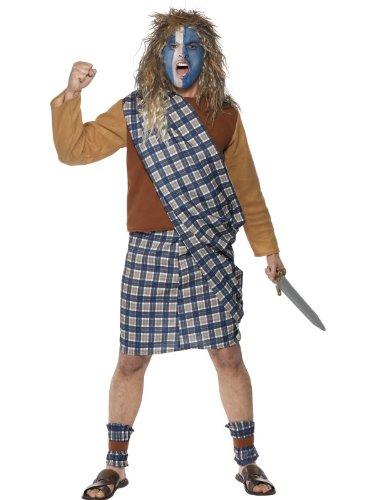 Smiffys Karneval Herren Kostüm schottischer Krieger Brave Schotte LARP - Schottischer Krieger Kostüm