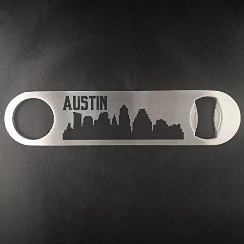 Austin Texas Skyline Edelstahl Heavy Duty Flat Bar Schlüssel Bier Lasergravur Flaschenöffner