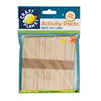 Craft Planet CPT 6681108 Lollipop Sticks, Natural