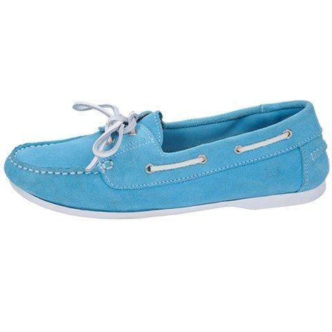 Quayside Milo, Chaussures Bateau Femme Bleu - Bleu (turquoise)