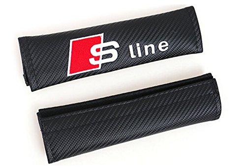 Preisvergleich Produktbild 2 x Gurtpolster Sline Audi schützt Carbon-Look Gürtel s line