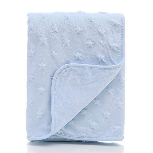 Baby Infant Throw Blanket, Kids Thicken Bedding Quilts mit Doppel-Layer Knit Fleece Single Größe für Kinder oder Erwachsene,Blue