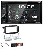 caraudio24 Kenwood DDX4019DAB USB DVD DAB MP3 Bluetooth 2DIN Autoradio für FIAT 500X (ab 2015)