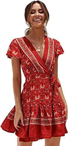 5b89c9505b Comprar Vestido Rojo Fiesta  OFERTAS TOP mayo 2019