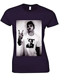 The Smiths Morrissey Steven Patrick Swearing White Women T Shirt Top
