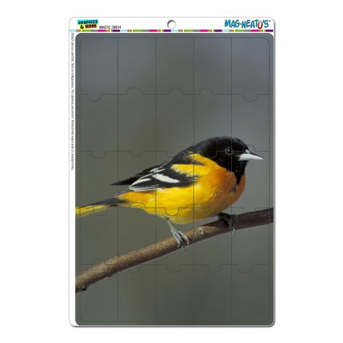 Baltimore Orioles-magnet (Baltimore Oriole–Bird Mag-Neato 's-TM) Neuheit Geschenk Locker Kühlschrank Vinyl Puzzle Magnet Set)