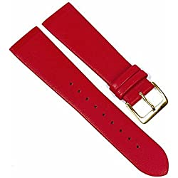 Copenhagen Replacement Watch Strap Calf Leather Band Red Match Skagen/Boccia 23096G, Bridge Width: 22 mm