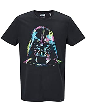 GOZOO Star Wars T-shirt Hombre Darth Vader Neon Sketch Art Negro