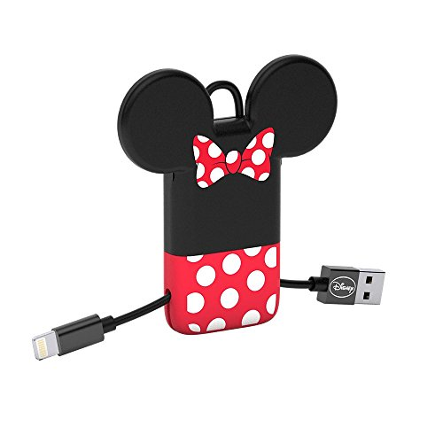 Tribe Disney - Cable USB Lightning para iPhone (Apple MFi Certificado), 22 cm, diseño Minnie Mouse
