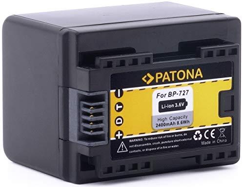 """Bundlestar Qualitätsakku für Canon BP-727 (echte 2400mAh) mit Infochip - Intelligentes Akkusystem - 100{1a9f974220f6402fc841f56d8c6d9edf01a92f8cfccef1c3f2e12488d0f971b7} kompatibel \""""neueste Generation\"""" für -- Canon LEGRIA HF M52 M56 -- M506 -- R36 R37 R38 R46 R48 R66 R68 R76 R78 R86 R88 -- R306 R406 R506 R606 R706 R806 -- NEUHEIT - Kann mit original Ladegerät geladen werden !"""