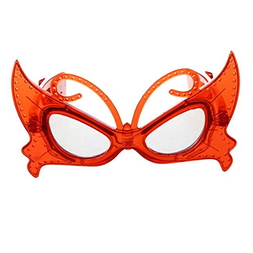 SODIAL R  Flashing Glass LED Pattern Butterfly Glasses for Red Carnival Party