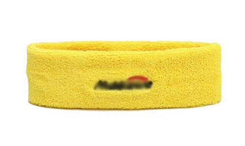 Baumwollsport Kopfschutz - Schweißband - Stirnband Sports Schal - Gelb