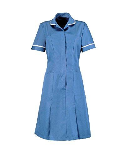 HP297R – Nurses Dress (Several Colour Choices) (96cm (Dress Size 16), Hospital Blue Piped White)