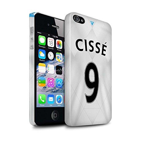 Offiziell Newcastle United FC Hülle / Glanz Snap-On Case für Apple iPhone 4/4S / Pack 29pcs Muster / NUFC Trikot Away 15/16 Kollektion Cissé