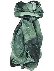 Foulard Soie du Mûrier Individuellement Peinte à la Main Gamme Classic Charcoal de Pashmina & Silk