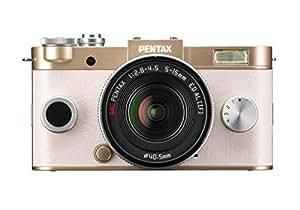 """Pentax Q-S1 Appareil Photo Hybride Écran 3"""" (7,6cm)12 Mpix Boîtier + Objectif 5-15mm F2.8-4.5 - Champagne Doré"""