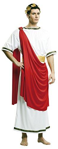 My Other Me–costume di César con tunica per uomo, M-L, colore: rosso (Viving Costumes 203225)