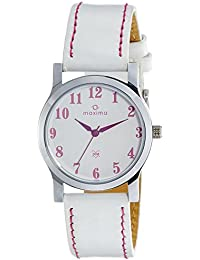 Maxima Analog White Dial Men's Watch - 23350LMLI