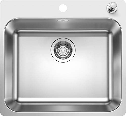 Blanco 523362 Supra 500-IF/A Küchenspüle, Edelstahl Bürstfinish, 500 mm Beckenbreite