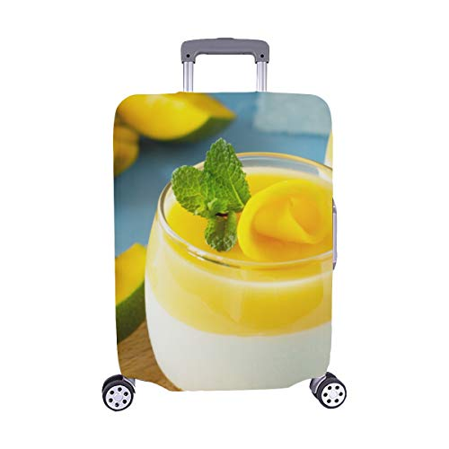 Berry Fruit Jelly with Fresh Fruit Pattern Spandex Trolley Case Travel Luggage Protector Suitcase Cover 28.5 X 20.5 Inch