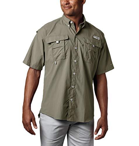 Columbia Herren PFG Bahama II Kurzarm-Shirt, hoch, Herren, Men's PFG BahamaTM II Short Sleeve Shirt-Tall, graugrün, 5XT -