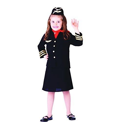 Dress up America Flight Attendant Costume Set (M) by Dress Up America (Kinder Flight Attendant Kostüm)