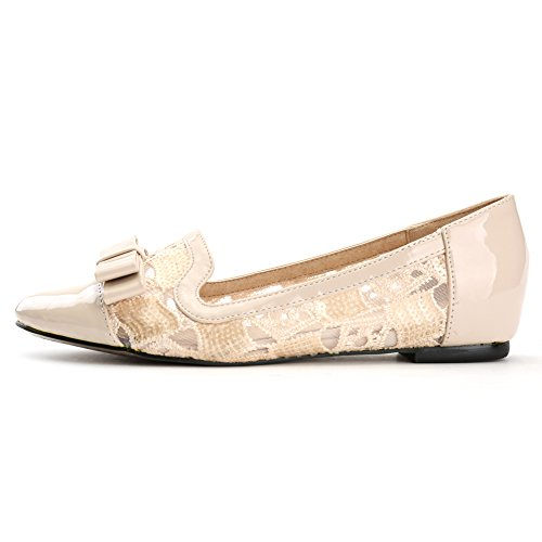 Alexis Leroy, Ballerine in pizzo con fiocco donna Beige