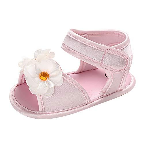 Alwayswin Baby Mädchen Süß Prinzessin Schuhe Mode Open Toe Sommer Sandalen Blume Klettverschluss Sandalen Einzelne Schuhe Bequem Weicher Boden Babyschuhe rutschfest Kleinkindschuhe