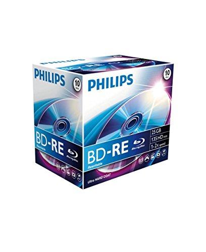 PHILIPS BE2S2J10C/00 BD-RE Rohlinge 2X 25GB 10er Jewel Case 00 Band