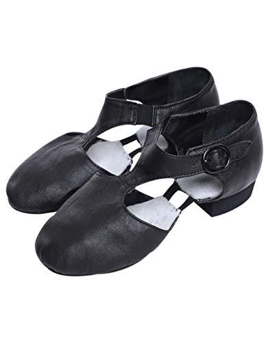 Jazz Latein Tanzschuhe für Damen - Bewegen Tanzschuh Ballettgymnastik Übungs Heels Salsa Latino International (Schwarz,39 EU)