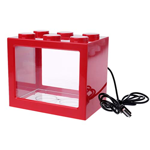 Tandou USB Mini Aquarium Fish Tank mit LED Lampe Licht Betta Fisch Fighting Radzylinder - Fisch Für Aquarium Betta