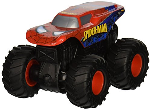 Hot Wheels Monster Jam Rev Tredz Monster-Truck mit Rückzugmotor (Spiderman)