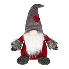 Idea Regalo - KISSION Natale Babbo Svedese Tomte Lungo Cappello Gnomo Fatto a Mano Peluche Bambola Casa Tavolo arredamento Desktop Ornamento