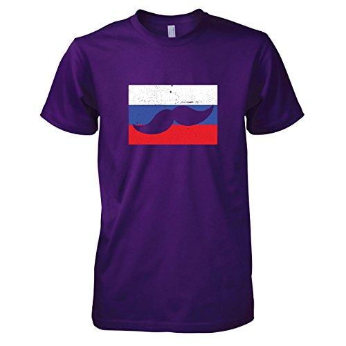 TEXLAB - Moustache Russia - Herren T-Shirt, Größe XXL, (Männer National Für Frankreich Kostüm)