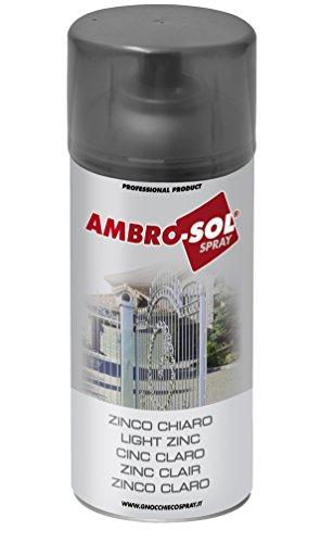ambro-sol Z350 – Zinc Clair, 400 ml, couleur : gris
