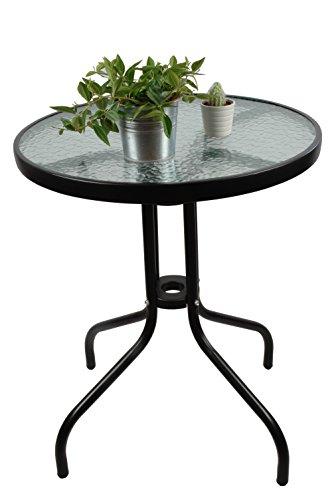 WB Mesas de comedor - Mesa de Jardín Acero-cristal Con 4 Plazas 70 x