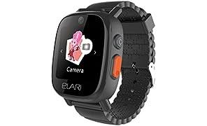Elari FixiTime 3 Smartwatch, Orologio cellulare idrorepellente per bambini con GPS/LBS/WiFi, doppia fotocamera e speciale bottone SOS, Nero
