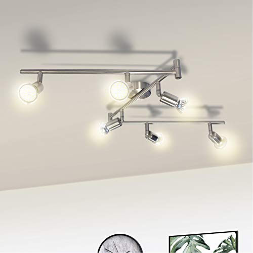 Lámpara de Techo LED Orientable, Wowatt Luz de Techo Interior Focos Giratorios...