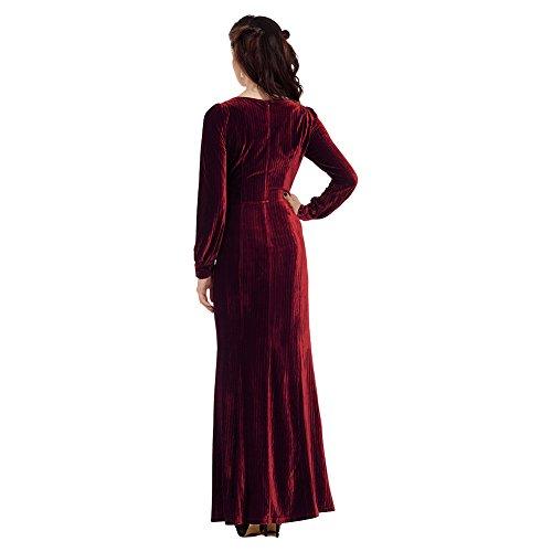 Voodoo Vixen Olive Kleid (Rot) - X-Large -
