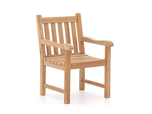 Populair Essstuhl/Gartenstuhl aus unbehandeltem Holz Sunyard Wales